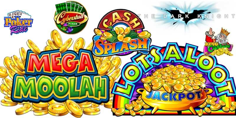 Mega Moolah, Major Millions, Cash Splash, etc.