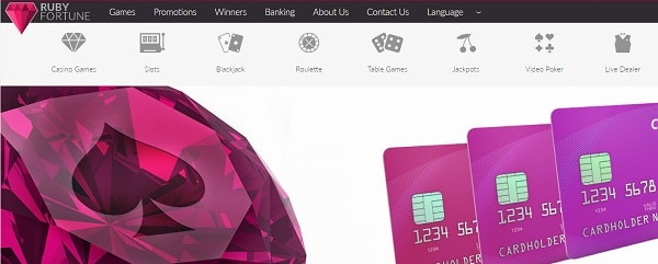 Ruby Fortune Casino deposit, withdrawal, support