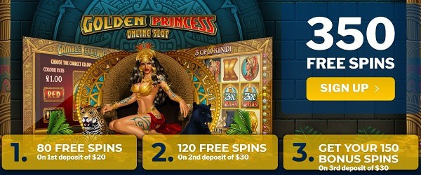 350 free spins (DB)