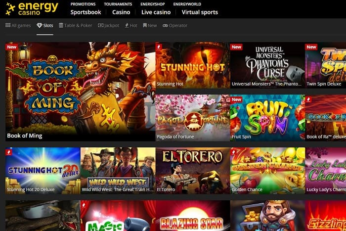 Energy Casino & Energy Bet Review