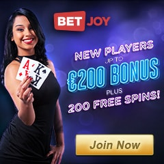 Betjoy Casino | 225 free spins and €200 gratis | No deposit bonus!