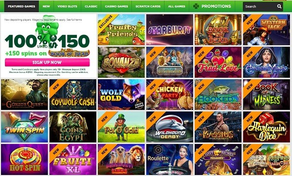 CasinoLuck exclusive welcome bonus (125% bonus + 150 free spins)