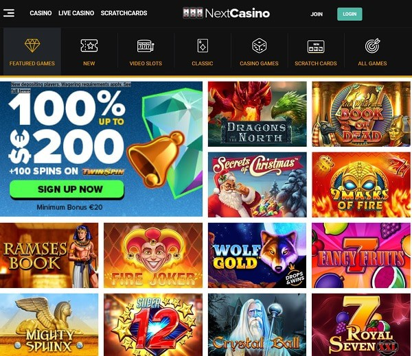 NextCasino exclusive bonus and free spins