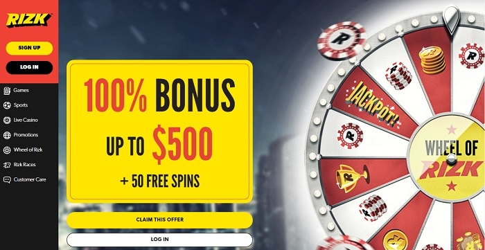 Rizk Welcome Bonus and Free Spins