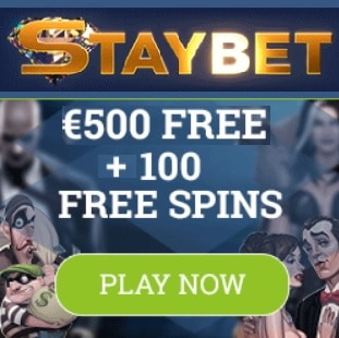Staybet Casino   100 free spins and €500 deposit bonus   Review