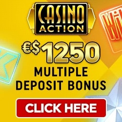Casino Action | €1250 free play & free spins - no deposit bonus | review