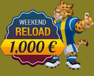 Weekend Reload 1,000 EUR bonus