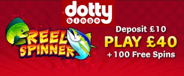 Dotty Casino 100 free spins on Reel Spinner and 300% bonus