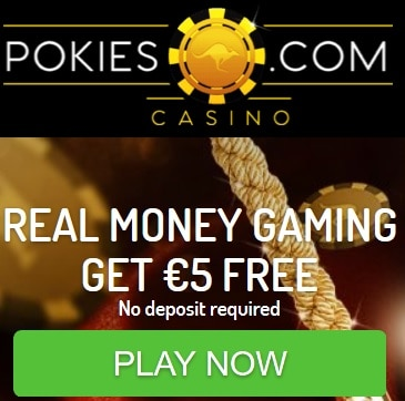 Pokies Casino | $5 no deposit + 50 free spins + $800 bonus | review