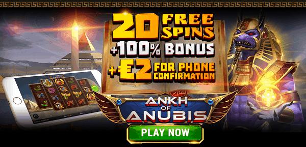 20 Free Spins + 2 EUR gratis NDB + 120% Welcome Bonus