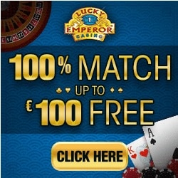 Lucky Emperor Casino | €10 no deposit bonus + 100 free spins | review