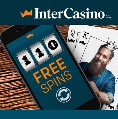 InterCasino | 110 free spins (NDB) and 100% bonus up to €900