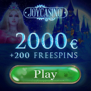 Joy Casino | 200 free spins plus £/€/$ 2000 bonus money | No deposit!
