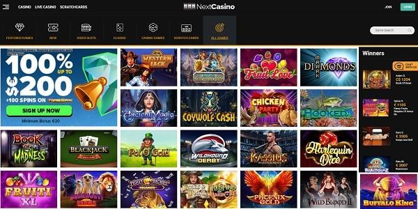 Next Casino free bonuses