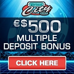 Virtual City Casino | €50 No Deposit + 500 free spins play | Review