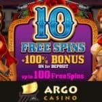 ArgoCasino 10 free spins on Pistoleras slot – no deposit bonus
