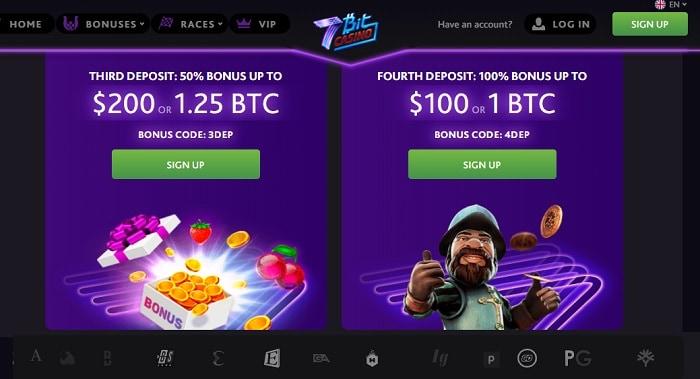 50% up to $200 or 1.25 BTC bonus