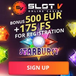 SlotV Casino | €500 bonus cash + 175 free spins + free bets | Review