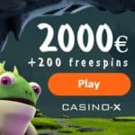 Casino-X Online Casino: 200 free spins + 100% up to €2.000 VIP bonus