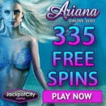 JackpotCity Casino 335 free spins (exclusive) + €1600 free bonus credits