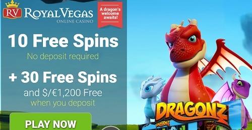 Royal Vegas 40 free spins