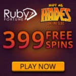 Ruby Fortune Casino 399 free spins (exclusive) + €750 free bonus money