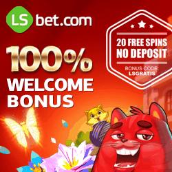 LSbet Casino   20 free spins (bonus code) + 100% up to $300 free credits