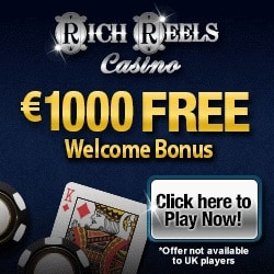 Rich Reels Casino | 200 free spins & 210% up to €1000 bonus | Review