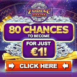 Zodiac Casino | 80 free spins on jackpot slots + €500 welcome bonus