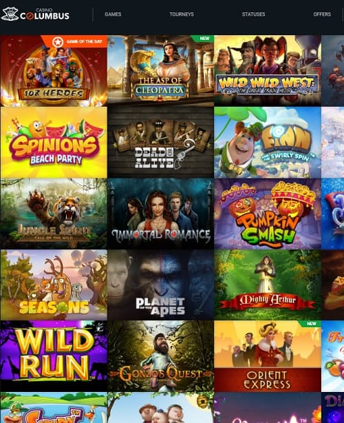Columbus Casino Review free games