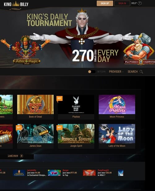 king billy casino online