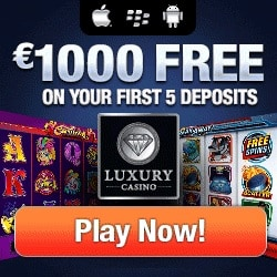 Luxury Casino 20 free spins NDB and $1000 welcome bonus