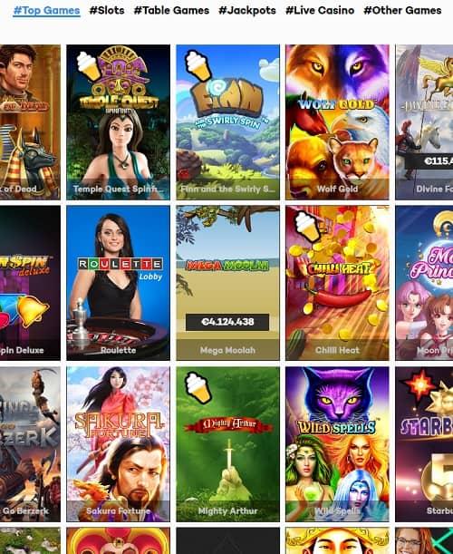 Highroller.com Casino free spins bonus