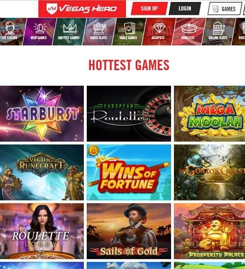Vegas Hero Casino Review
