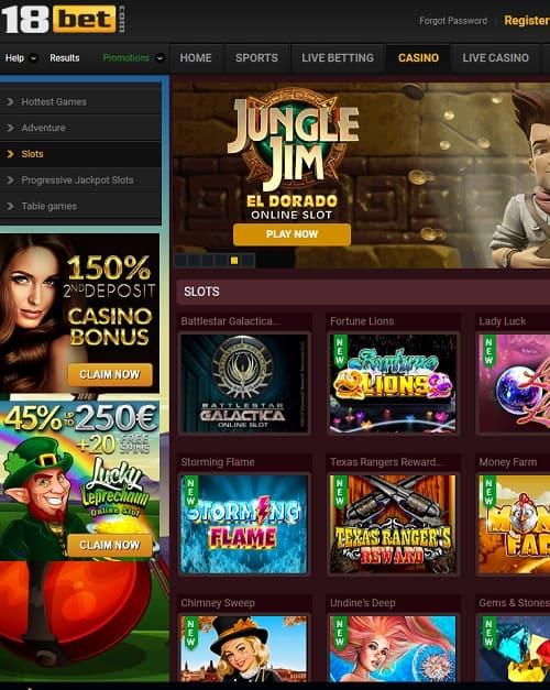 18bet casino free play bonus