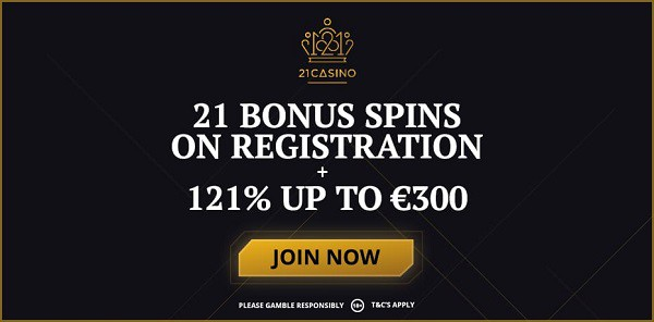 21 free spins no deposit required!