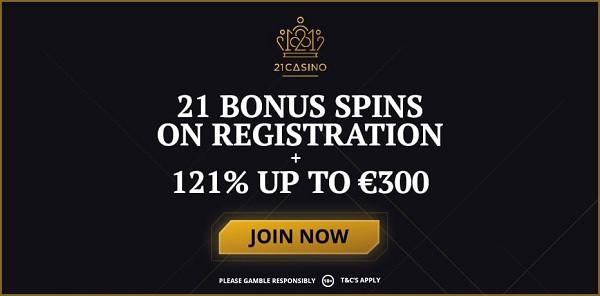 21 free spins no deposit required!