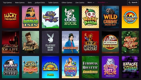 Exclusive online slots, table games and jackpots!