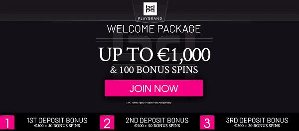 Get 100 bonus spins and 1000 EUR free bonus!