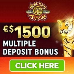 Golden Tigrt Casino $1500 free play bonus and 50 free spins