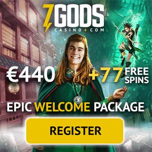 7 Gods Casino   77 free spins plus €/$/£ 440 welcome bonus   Review