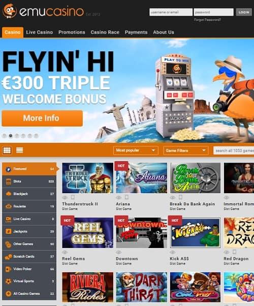 EmuCasino.com banner overview