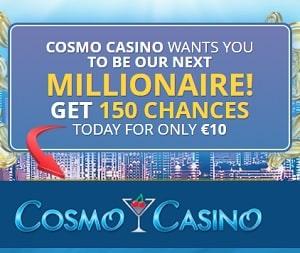 Comso Casino 150 free spins + $500 free bonus money