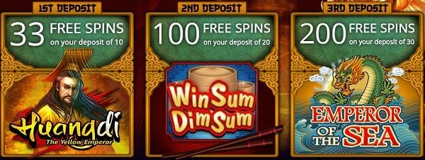 333 free spins exclusive bonus