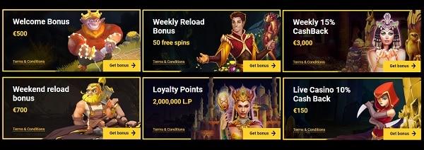 Zet Casino welcome bonus