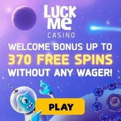 LuckMe Casino | 370 free spins (no wager bonus) on deposit | Review