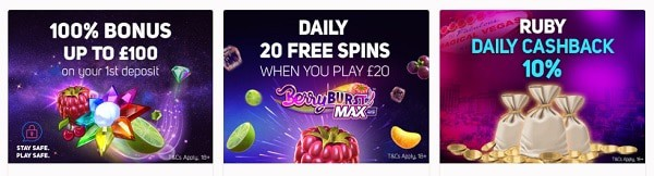 100% bonus and 20 gratis spins!