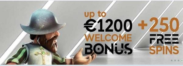 GoPro Casino 1200 EUR and 250 free bonus