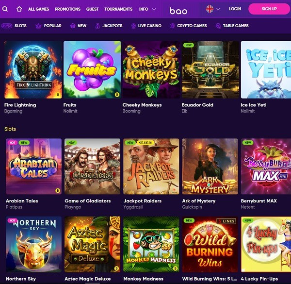 Review of Bao Online Casino