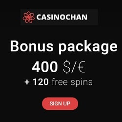 120 free spins and 250% up to €/$400 bonus